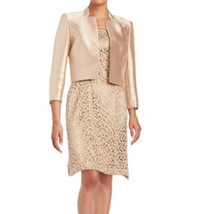 NWT WOMEN TAHARI ARTHUR S. LEVINE Two-Piece Jacket and Lace Dress 2P $340 - $79.19