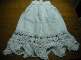 Antique Vtg Doll  Petticoat  slip Underwear Primitive White - $5.00