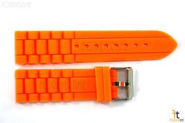 22mm per Fossil Arancione Silicone GOMMA Orologio con Cinturino - $14.24
