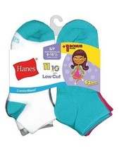 11-Pack Hanes ComfortBlend EZ-Sort Girls Low Cut Socks - Assorted Colors... - $15.19