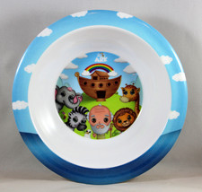 "Noah's Ark Round Kids Bowl NEW BPA-Free Non-Toxic Durable 6 1/2"" - $8.88"