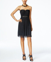 Adrianna Papell Women's  Strapless Stretch Ruched Black Dress Size 4  - $44.55
