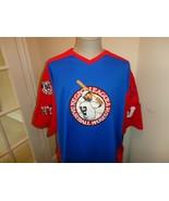 Vtg Blue Sewn HeadGear Negro Leagues Baseball Museum NLBM Baseball Jerse... - $54.44