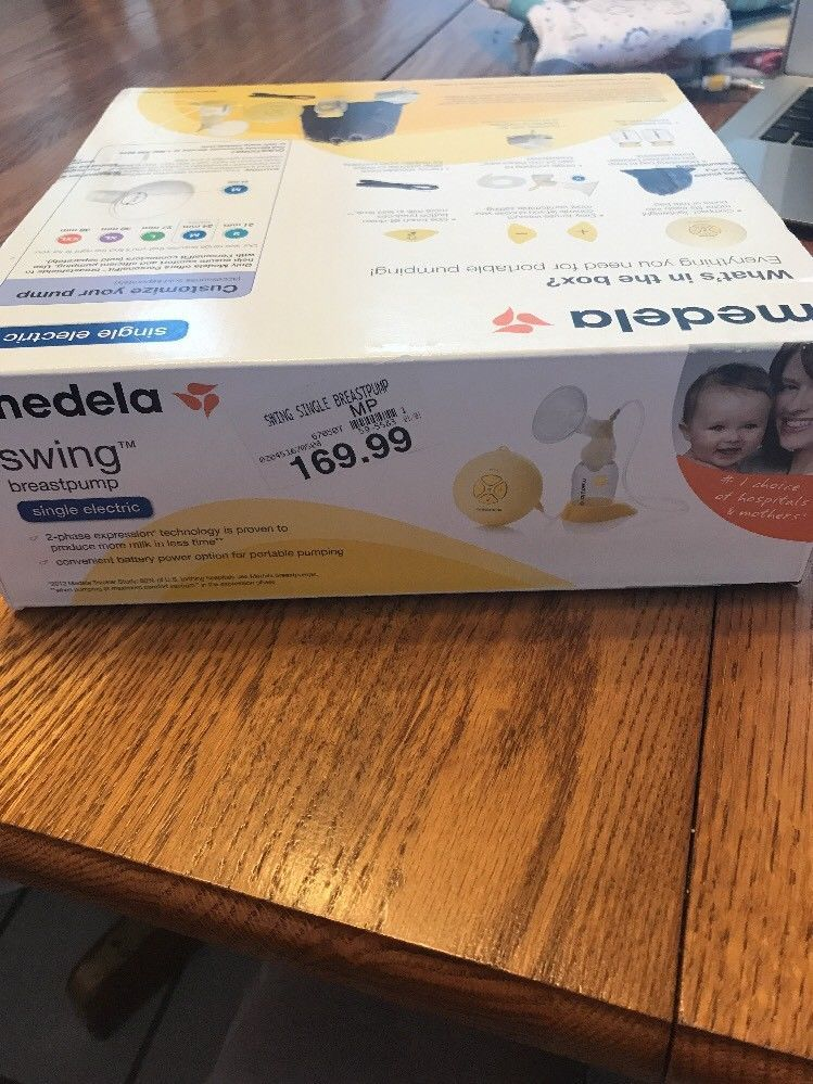 Medela Swing Single Electric Breast Pump Factory Sealed New