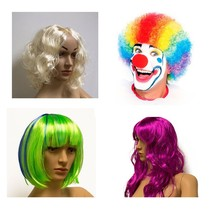 Kostüm verschiedene Farben Halloween Cosplay Clownperücke Haare Verkleidung - $6.80