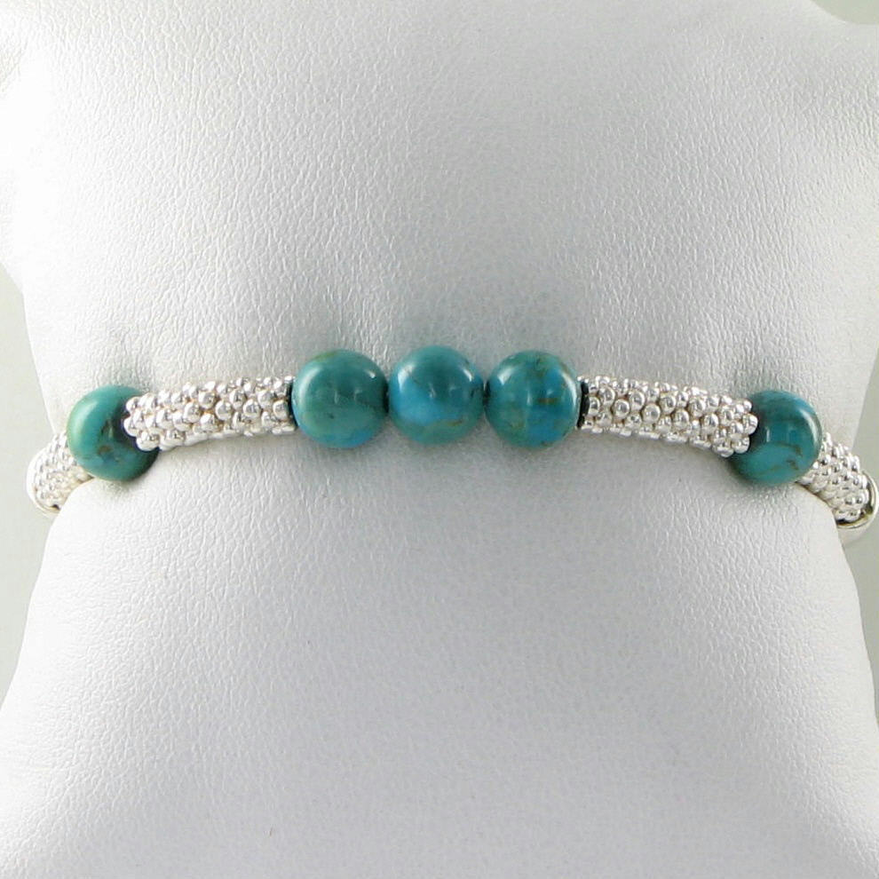 Links of London Effervescence XS Turquoise Bracelet 5010.2062 Sterling New $195