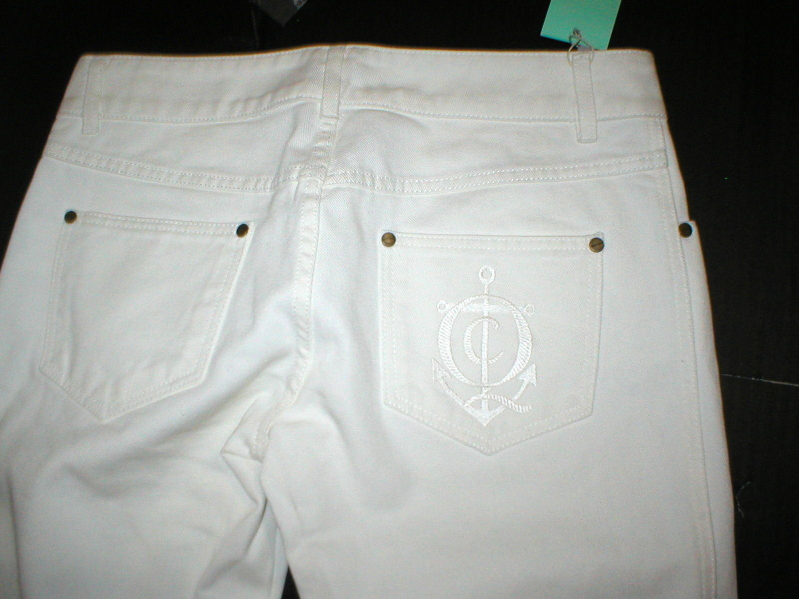 New NWT 4 6 Alexander McQueen Womens Jeans Designer Italy 42 White Tall 30 x 37