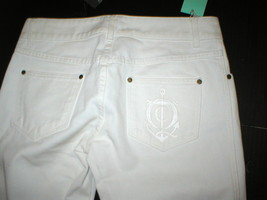 New NWT 4 6 Alexander McQueen Womens Jeans Designer Italy 42 White Tall 30 x 37 image 1
