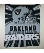 Vintage Oakland Raiders Team NFL Fleece Reversible Stadium Throw Blanket... - $59.35