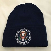 3 HATS TRUMP 2017 INAUGURATION BLUE BEANIE CAP HAT PRESIDENT EAGLE SEAL ... - $28.06