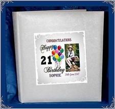 21st Birthday Interleaved album personalised gift Present | Cellini Albu... - $62.88