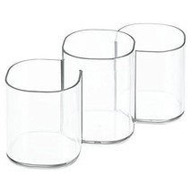 InterDesign Clarity Cosmetics Organizer Trio Cup for Vanity Cabinet Perfect and - $15.06