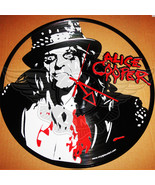 VINYL PLANET Wall Clock ALICE COOPER Home Record Unique Decor upcycled 12'' - $33.50