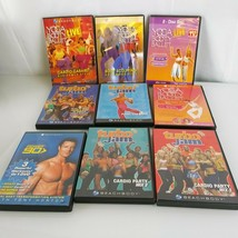 Lot of 9 Beachbody Workout Fitness Dvds Turbo Jam Yoga Booty Ballet Powe... - $79.19