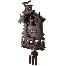 Handcrafted Solid Wood Cuckoo Clock with 4 Dancers Dancing with Music De... - $195.02