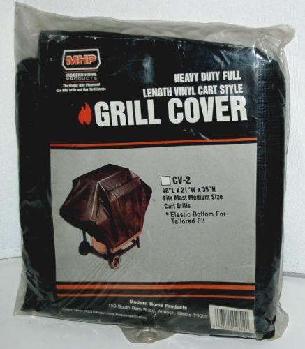 MHP CV2 Heavy Duty Full Length Vinyl Cart Style Grill Cover Color Black