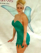 Tinkerbell Mini Dress w Large Sheer Fairy Wings Halloween Fairy Costume ... - $59.99