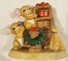 "Ceramic Mice Figure Mouse Christmas Cooking Xmas Holiday Figure Decor 4"" - $10.56"