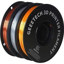 PLA 3D Printer Filament,Geeetech 3D Printer Silk Copper,Gold and Silver PLA Fila
