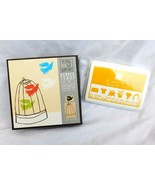 Yellow Owl Workshop Rubber Stamp Set Yellow Ink Pad Bird Cage Parrot Crafty - $12.99