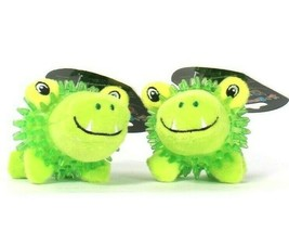 2 Count Spunky Pup Lil Bitty Squeakers Play Dental Healthy Teeth Ball Fo... - $21.99
