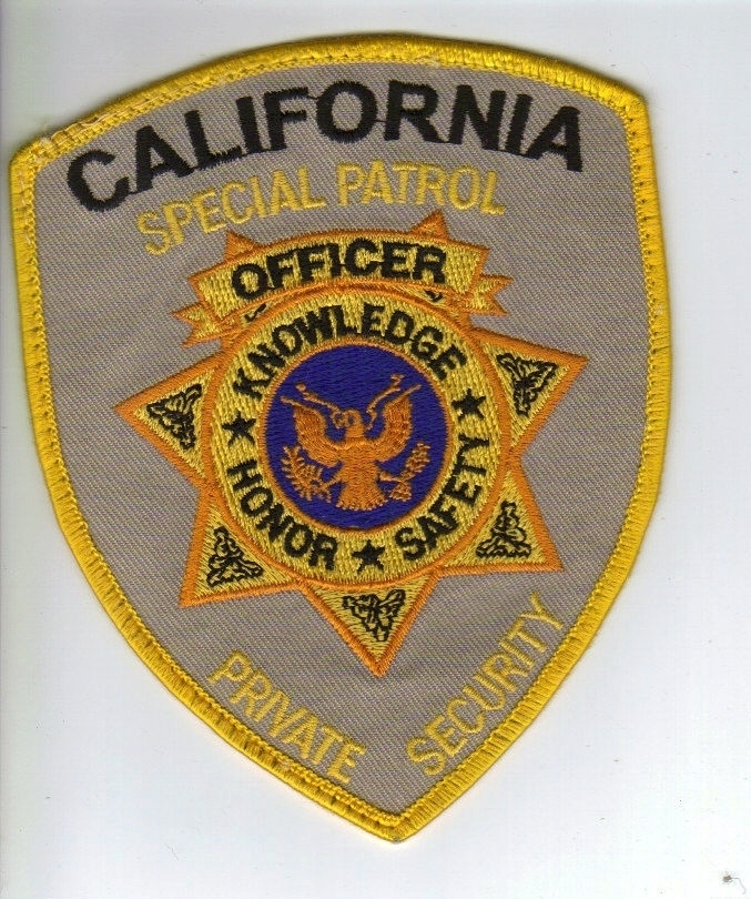 Primary image for California Private Security Special Patrol Iron-on Patch!