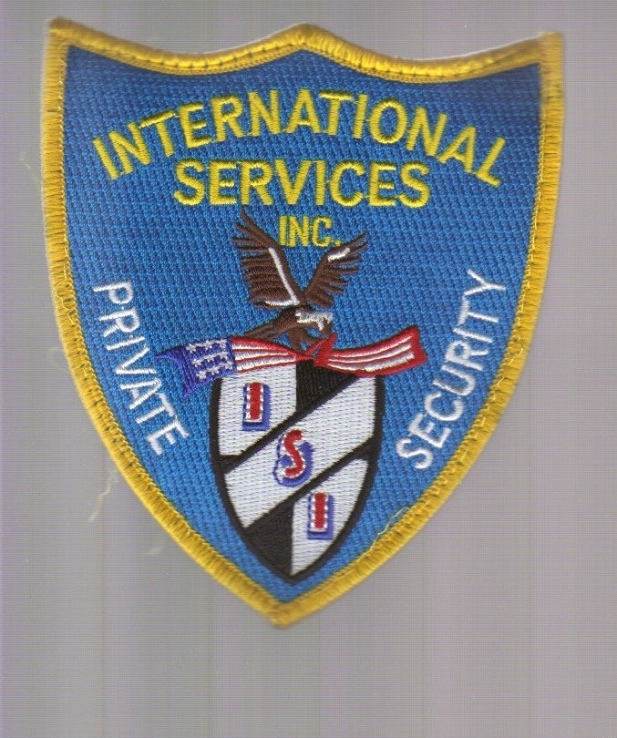 Primary image for International Services Private Security Iron-on Patch!