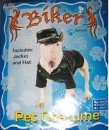 Dogs Biker Costume SZ Med Biker Hat Jacket NEW - $15.00