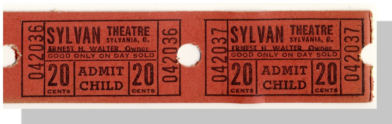 Ticket sylvan theatre double