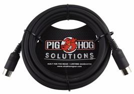 15 Ft Pig Hog 5 Pin Din  MIDI SYNCHRO Black Cable.
