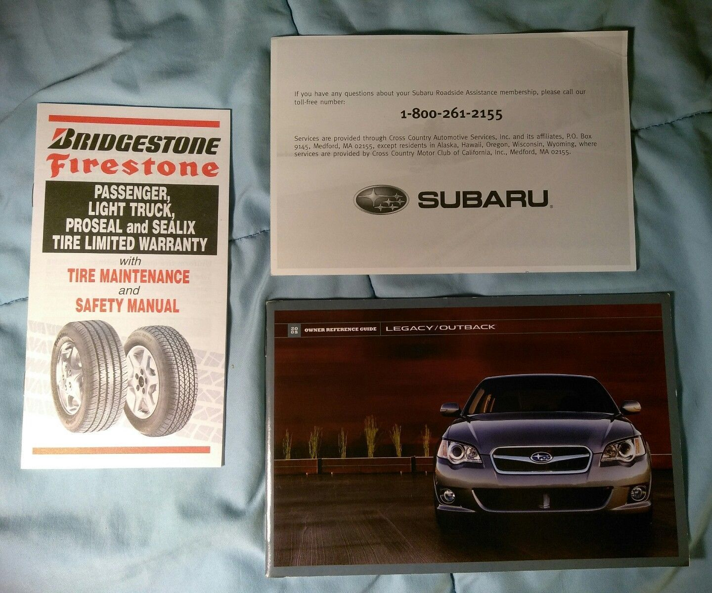 2008 Subaru Legacy Outback Owner's Owners Manual Guide Books Case (9 pcs)