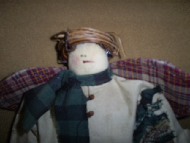 Primitive Folk Art Angel Doll (New)