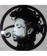 VINYL PLANET Wall Clock PRINCE Gift Home Record Unique Decor upcycled 12'' - $33.50