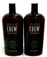 American Crew 3-In-1 TEA TREE Shampoo Conditioner & Bodywash 33.8oz (PAC... - $39.59