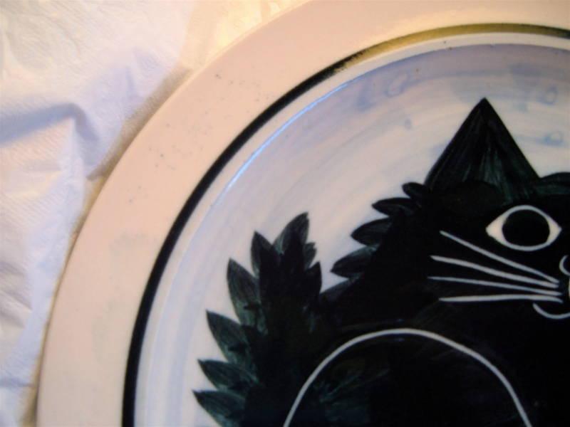 "KAREN DONLEAVY K.D. FAT CAT DINNER PLATE 10"" RARE MINT! Free Shipping!"