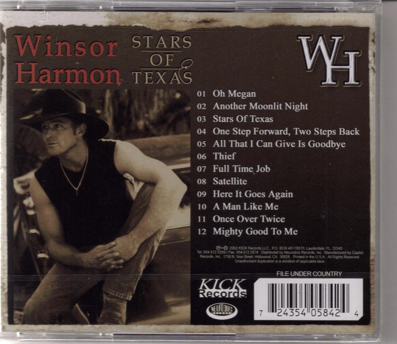 WINDSOR HARMON Stars of Texas Music CD