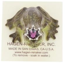 Hagen-Renaker Miniature Frog Prince Kissing Birthstone 02 February Amethyst image 5