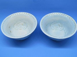 "Fitz And Floyd Toulouse Blue 7 1/8"" Soup-Cereal Bowls Set Of 2 Bowls EUC - $18.31"