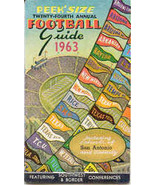 South Western Conference 1963 Football Schedule Booklet  - $25.00