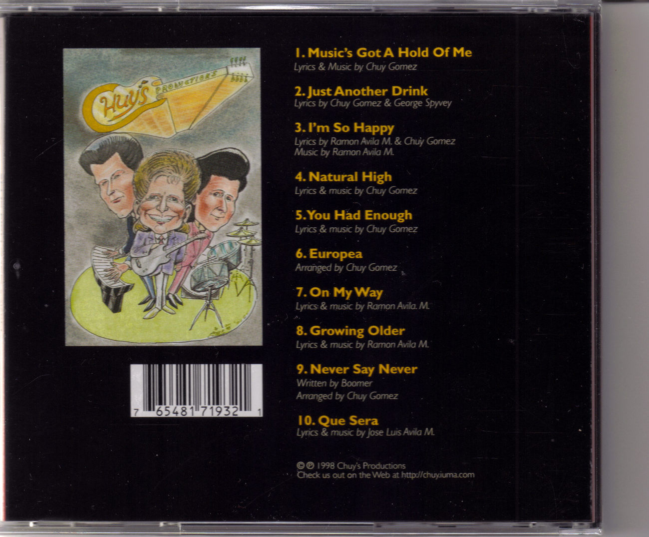 CHUY Music's Got A Hold Of Me CD