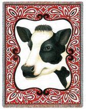 70x54 COW Farm Animal Bandana Tapestry Throw Blanket - $60.00
