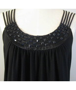 Black Beaded And Satin Tunic Top Size 3X  - $19.00