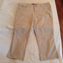 Justice capri pants Size 14 Regular  khaki uniform Girls - $13.99