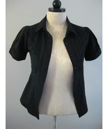 Black Short Sleeve Blouse Sz Small - $10.00
