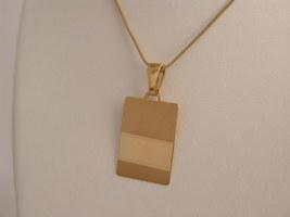 Medal gold 19k oval shape MD673 - $136.27