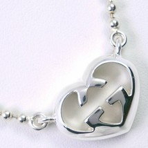 Necklace Gucci Interlocking Heart Silver 925 Women 'S Used Rank F/S - $356.34