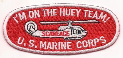 Primary image for USMC HUEY Team Helicopter Hat Patch