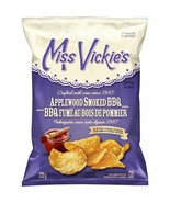 4 Bags Miss Vickies Kettle Cooked Potato Chips Applewood Smoked BBQ 220g FRESH - $32.42