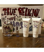 True Religion Love Hope Denim 4Pcs Women Set 3.4 oz + 0.25 + Lotion + Sh... - $121.98