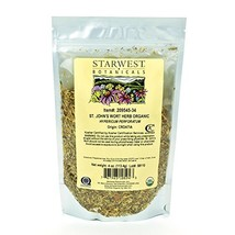 An item in the Crafts category: Starwest Botanicals Organic St. John's Wort Herb C/S, 4 Ounces